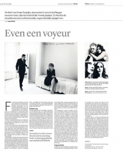 Verschenen in Trouw, 14 december 2013
