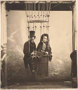 Nadar met zijn echtgenote, zelfportret, ca. 1864