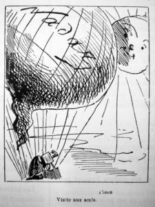 'Visite aux amis', illustratie uit het Journal Amusant, 10 november 1860.