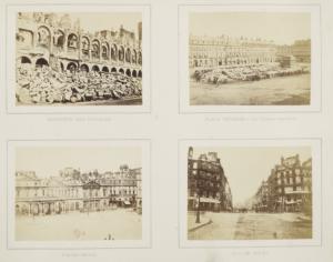 Pagina uit album 'Paris incendié, 1871', anoniem, collectie BNF
